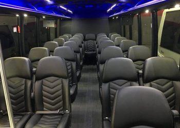 28 PASSENGER MINIBUS interior